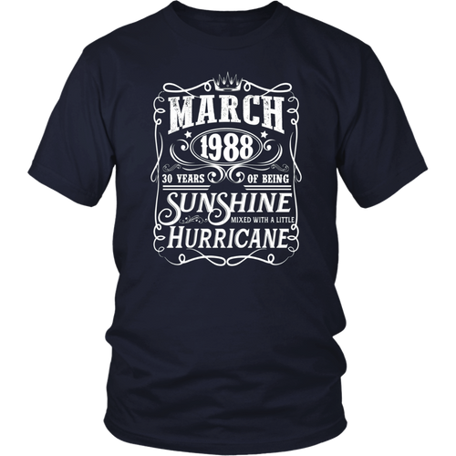 Legends Were Born In March 1988 - 30th Birthday Gift T-Shirt