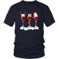 Wine christmas wine t shirt