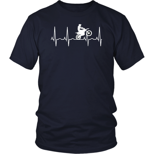 Dirt Bike Heartbeat Shirt - Best Shirt for Dirt Bike Riders