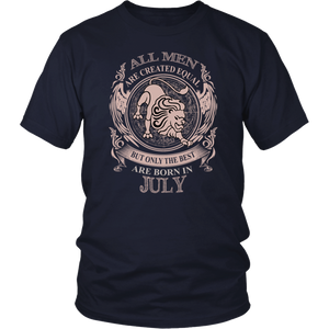 Men the best are born in July Leo tshirt