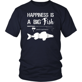 Happiness Is A Big Fish Funny Fishing Shirts For Men