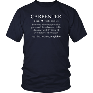 Funny Noun Gift Carpenter Definition T-Shirt Cool Woodworker Shirt