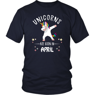 Unicorns Are born In april Tshirt Dabbing Unicorn Birthday