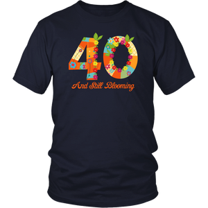 Blooming 40th Birthday T-Shirt