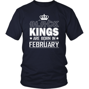 Kings are born in February Birth Month Tshirt