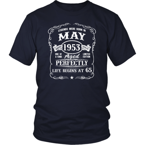 Born in May 1953 legends T shirt