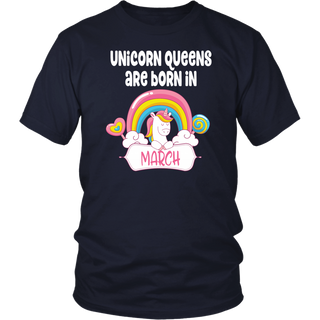 Unicorns Are Born In March - Birthday Beautiful Gift T-Shirt