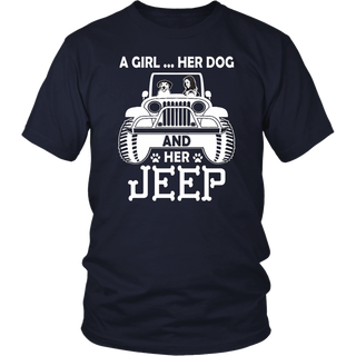 Womens Dog Jeep Mom T-shirt