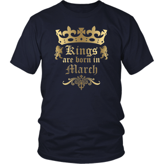 Kings Are Born In March Tshirt T Shirt T-Shirt Tee Shirt