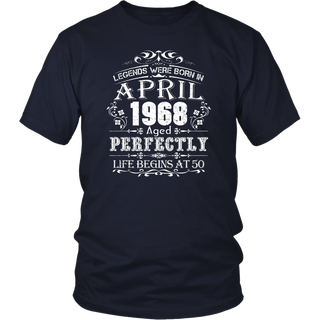 Legends Were Born In April 1968 - 50th Birthday T-Shirt