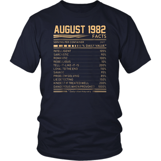 August 1982 Facts Serving Per Container T-shirt