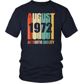 Retro August 1972 T-Shirt 46 yrs old Bday 46th Birthday Tee Shirt