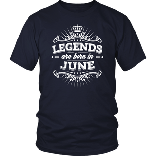 Legends Are Born In June Premium Edition T-shirt