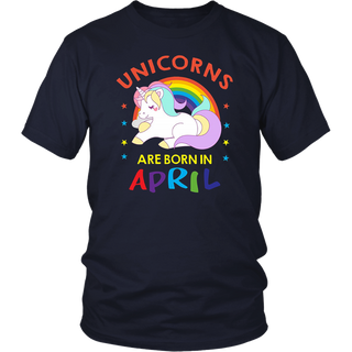 Unicorns Are Born In April Cute Girl's Premium Gift T-Shirt