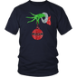 Grinch hand holding Jeep T-shirt
