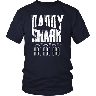 Daddy Shark T-Shirt, Fathers Day Gift from Wife Son Daughter Shirt