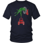Grinch hand holding Jeep a glass of wine Christmas Shirt