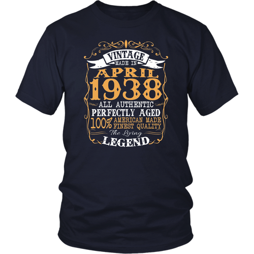 Legends Vintage Made In April 1938 80th Birthday Gift 80 yrs