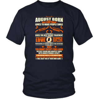 August Born Has A Sexy Brain Loves To Make People Smile T-Shirt