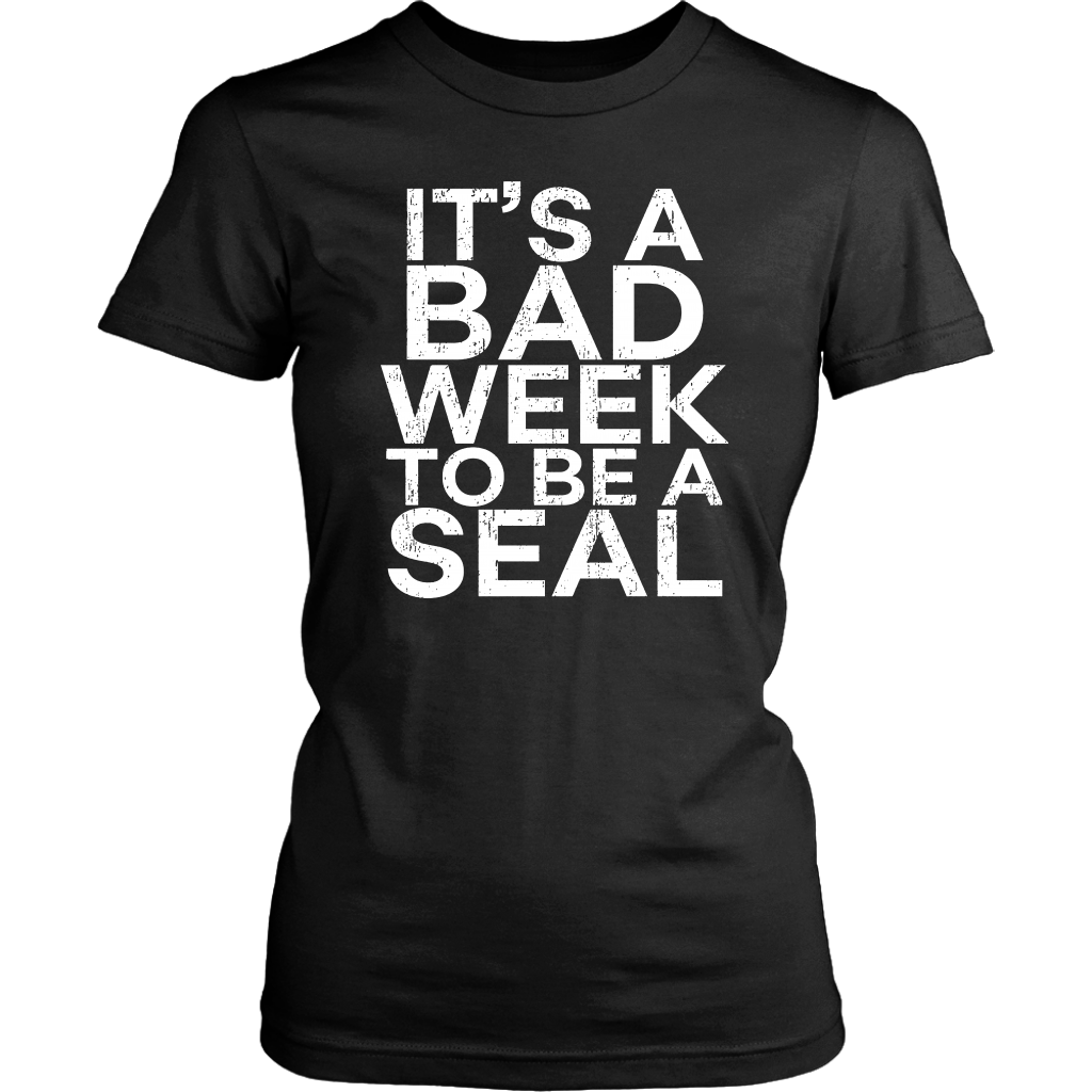 It's A Bad Week To Be A Seal Tshirt Funny Shark Lover Gift