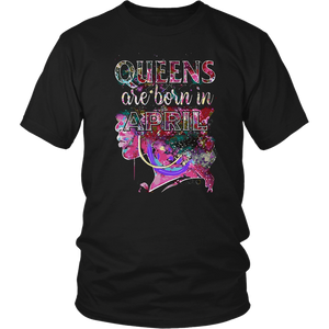 April Queens, Colorful Birthday T-Shirt