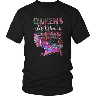 March Queens, Colorful Birthday T-Shirt