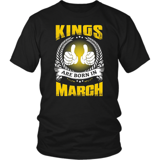 Kings Are Born In March T Shirt 2018