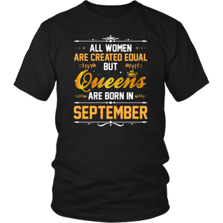 Queens Are Born In September Birthday T Shirt Gift