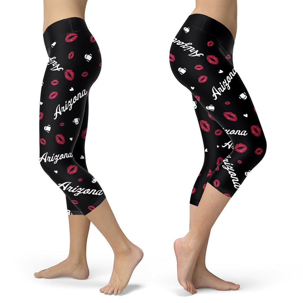 Arizona Lovin Kisses Football Capris - Bornmay