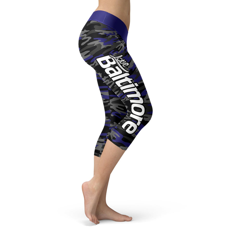 Baltimore Football Camo Capris