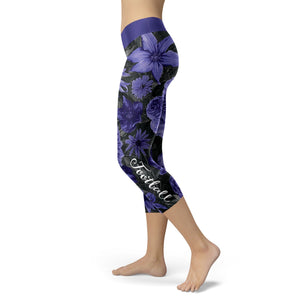 Baltimore Flower Football Capris