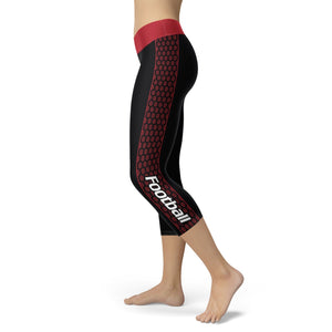 Atlanta Honeycomb Stripe Football Capris