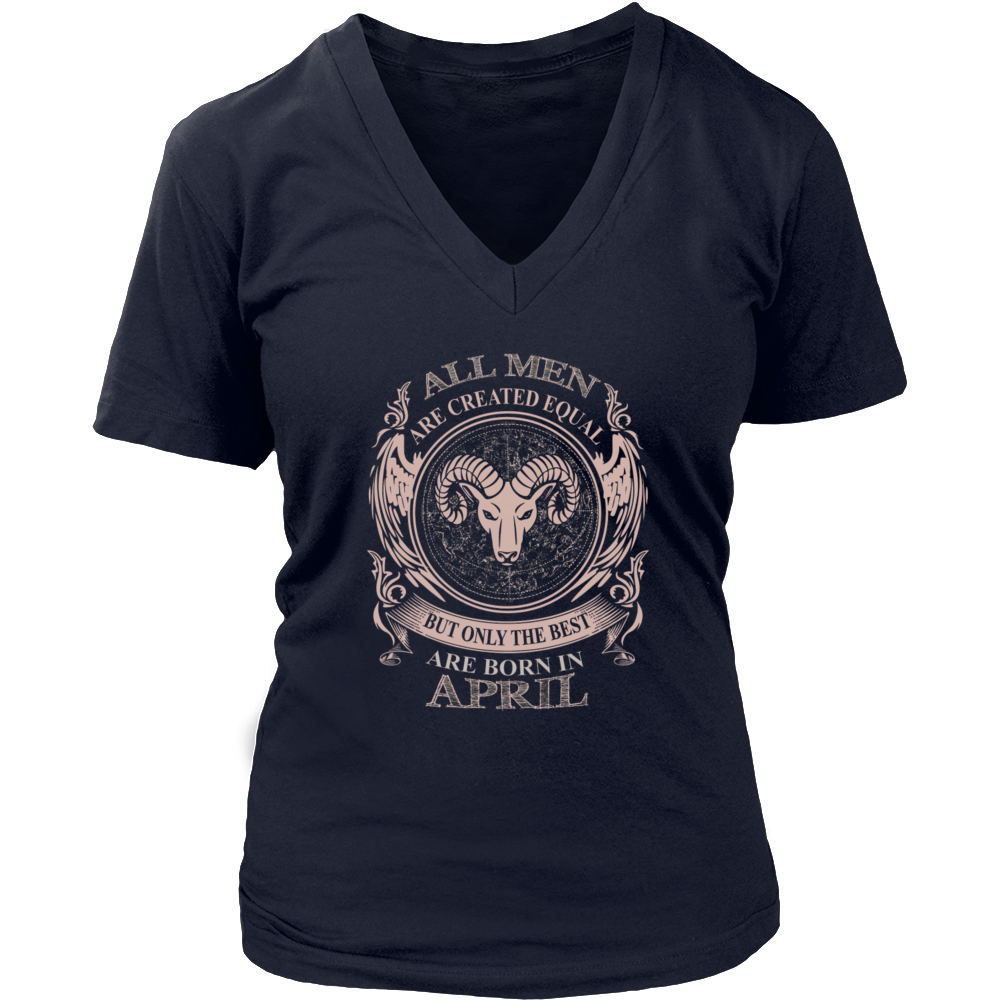 All men are created equal are born in April Men's Women's T Shirt