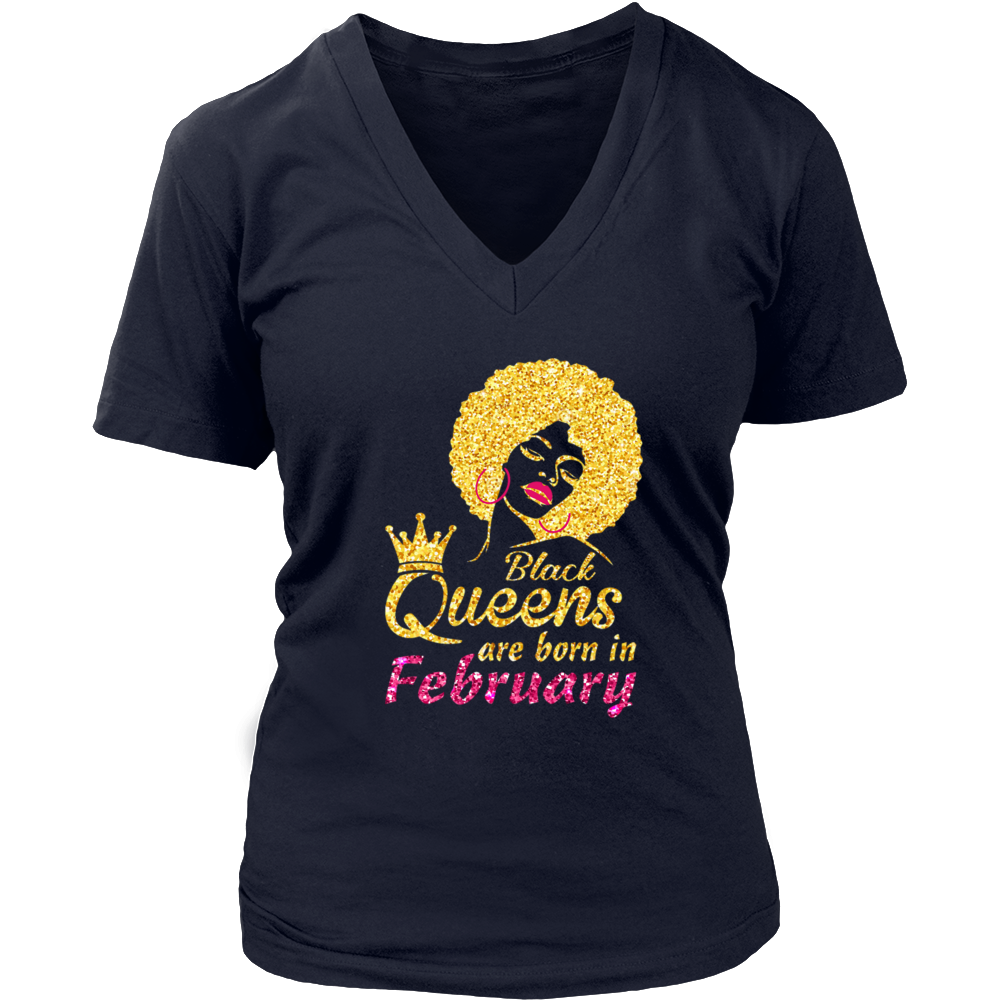 Black Queen Are Born In February Shirt