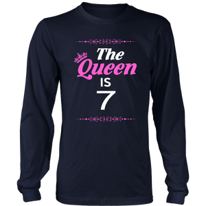 The Queen Is 7 - Birthday Gift T-Shirt