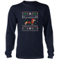 Dachshund Through The Snow T-Shirt Xmas Lover Dachshund Tee