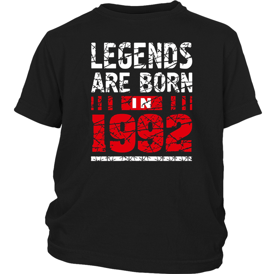 25th Year Old Man Shirt Gift Legends Are born in 1992 Tee