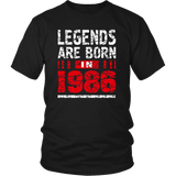31th Year Old Man Shirt Gift Legends Are born in 1986 Tee Quotes Hoodie