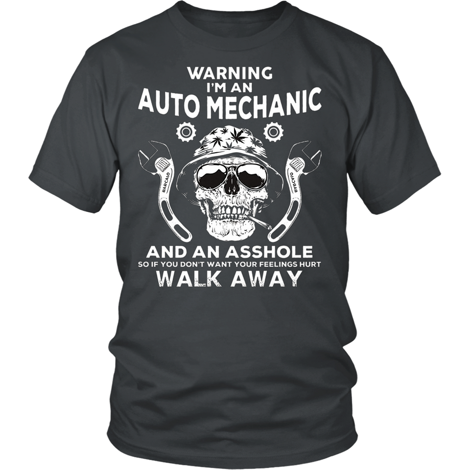 Auto Mechanic TShirt Skull Graphic Tee Auto Mechanic Apparel