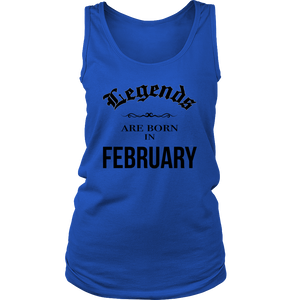 Birthday Legends are born in February Funny Shirt