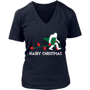 Bigfoot Hairy Christmas Tree Shirt Holiday Sasquatch Gift
