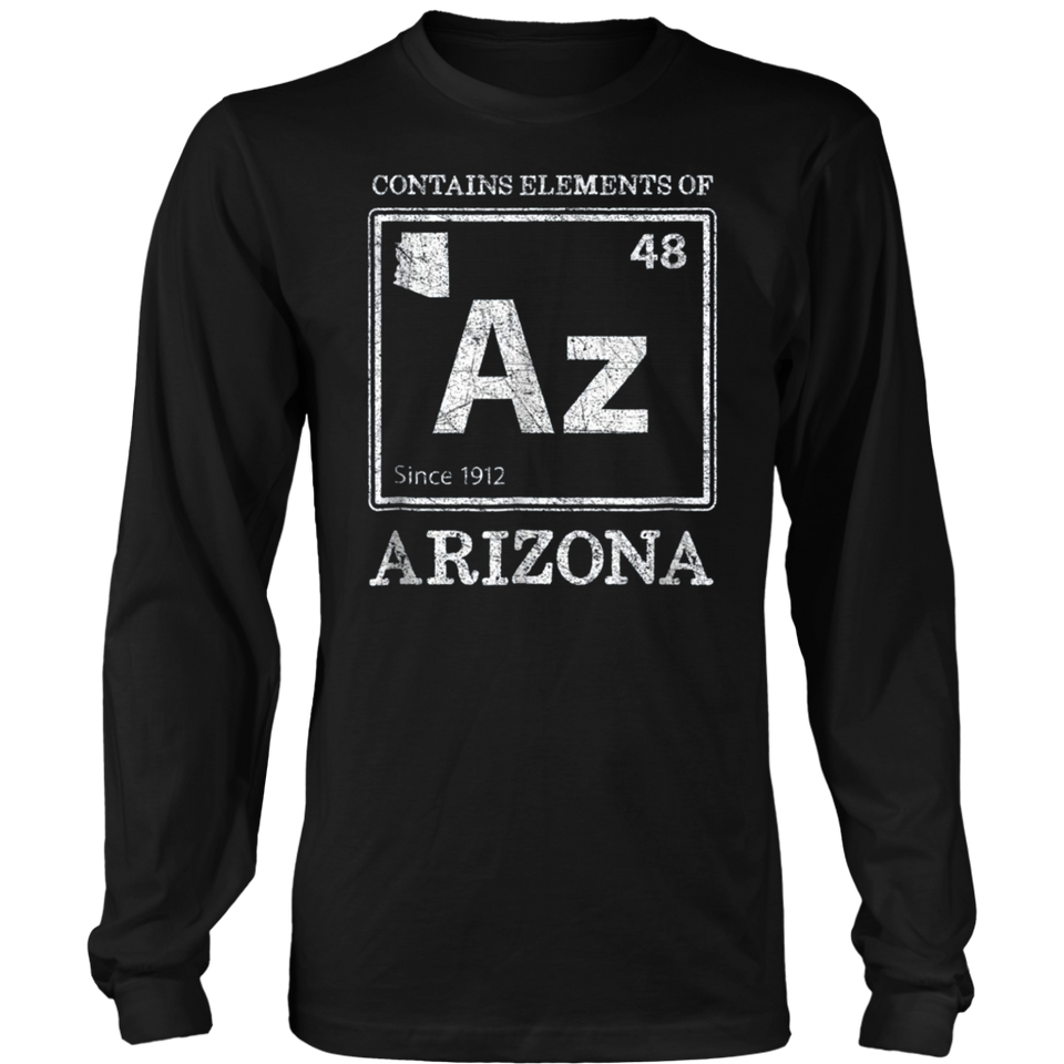 Elements Of Arizona Funny Home State Periodic Table Shirt Teefig
