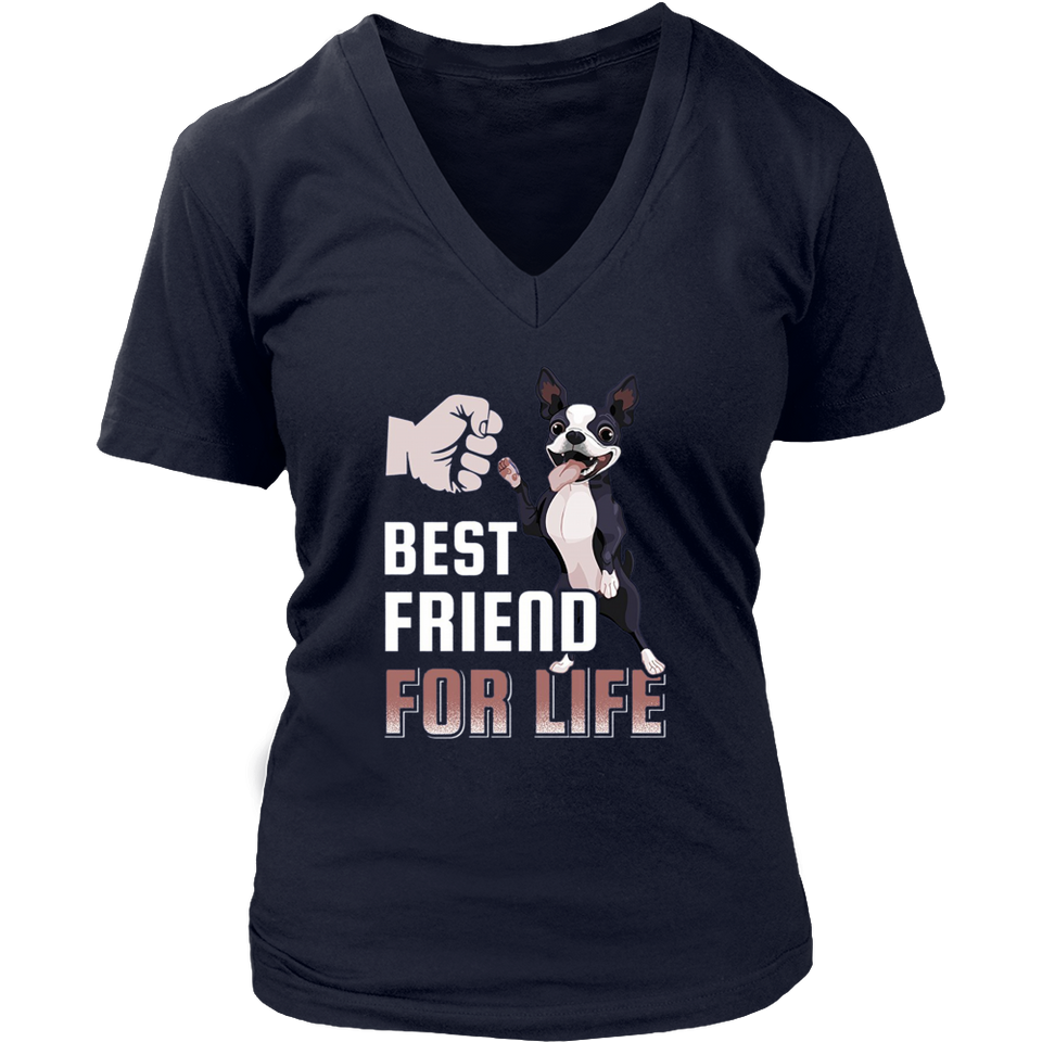 Boston Terrier Best Friend For Life T-Shirt