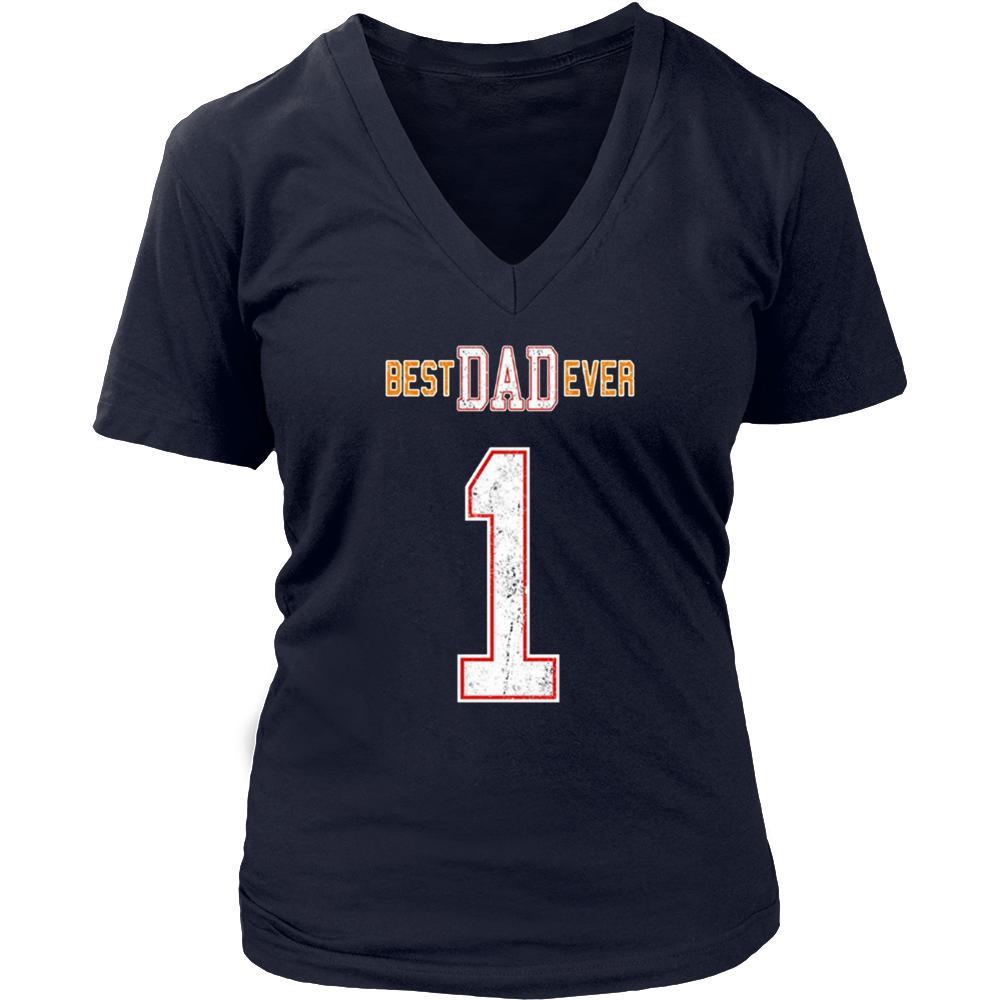 BEST DAD EVER Number 1 Football Jersey Like T-Shirt 5 Colors