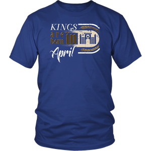 Gothic Birthday Kings Castle Born April T Shirt