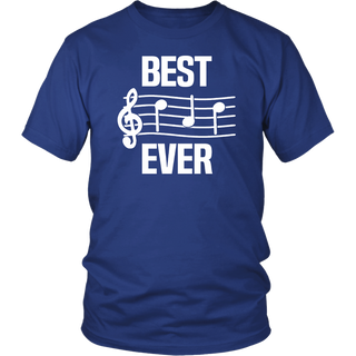 Mens Best Dad Ever Music Shirt Notes Funny Fathers Day Gift