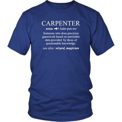 Pro Noun Gift Carpenter Definition T-Shirt