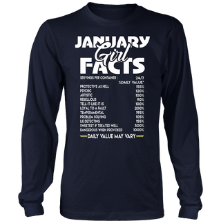 January Girl Facts T-shirt