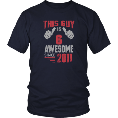 Vintage Born in 2011 6th Birthday Gifts 6 This Guy Awesome