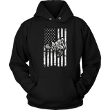 American Flag Dirt Bike Motocross Enduro Gift T-Shirt Quotes Hoodie
